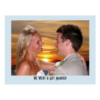 Post Wedding Reception Party Photo Personalized Postcard