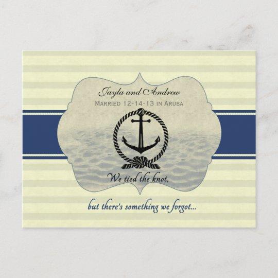 post wedding reception save the date announcement postcard zazzle com