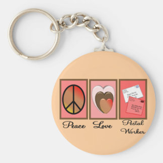 Post Worker Gifts Basic Round Button Keychain