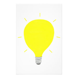 Post Your Bright Idea Yellow Light Bulb Stationery