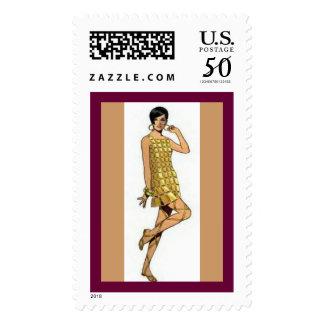 Postage - 1960 Paco Rabanne Dress Stamp