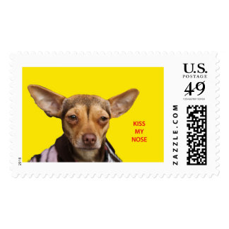 Postage, 49 cents, Kiss My Nose Chihuahua Postage