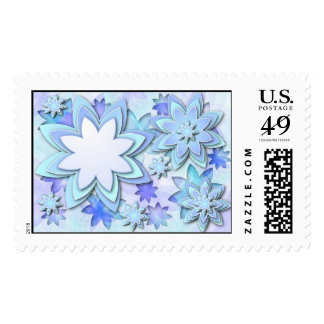Postage abstract lotus flowers