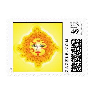 Postage abstract sun