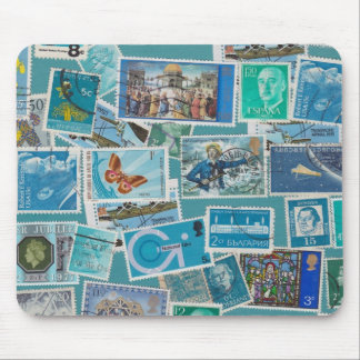 Postage Bleu Collection Mouse Pad