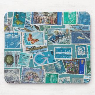 Postage Bleu Mouse Pad