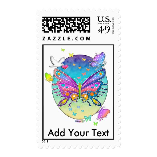Postage - BUTTERFLY POP ART