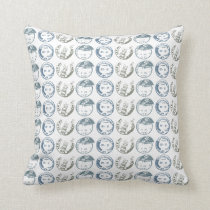 Postage Cancellation Stamp Repeat in Armani Grays Throw Pillow