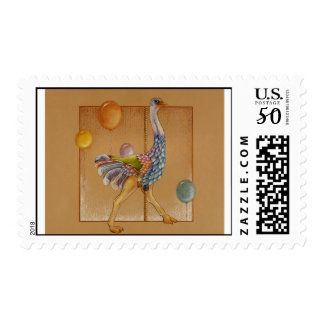 Postage - Carousel Ostrich