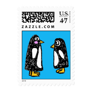Postage Chit and Chat the Penguins