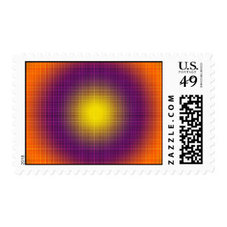 Postage Colored Concentric Abstract