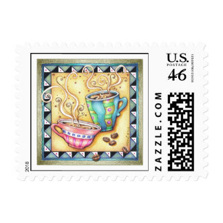 POSTAGE - COOL BEANS COFFEE ART