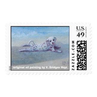 "postage ""Dalmatian Sunbather"""