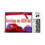 Postage - Getting my RED on!