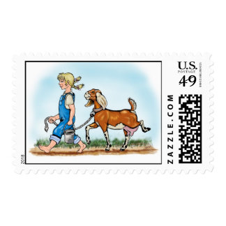 Postage - Girl and Goat