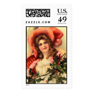Postage-Holiday Victorian Woman