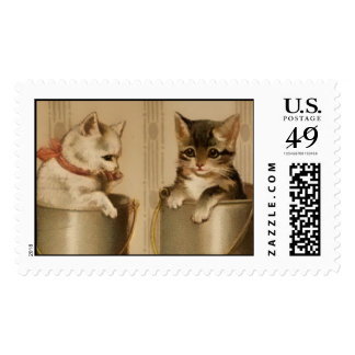 Postage-Kittens in Milk Cans
