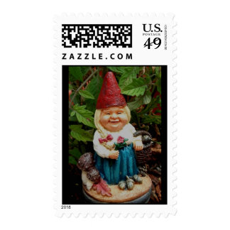 postage lady garden gnome