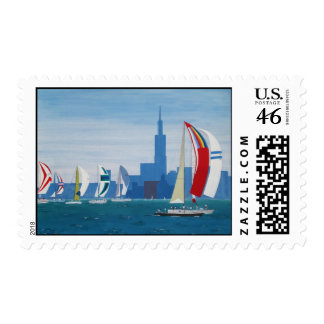"""Postage """"Lake Michigan - Chicago"""""""