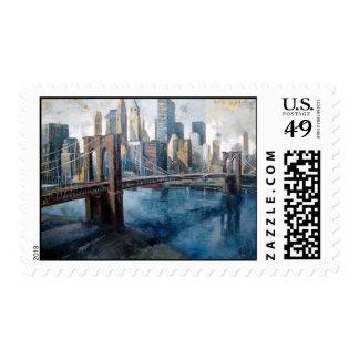 postage landscape New York
