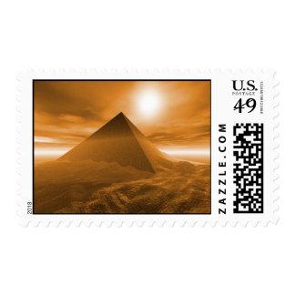 postage landscape piramide
