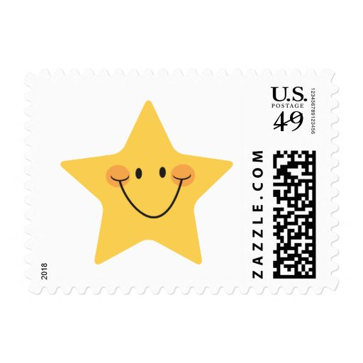 Postage: Little gold star Postage Stamps