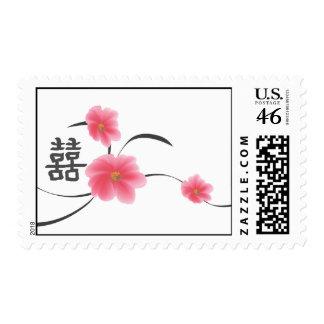 Postage Medium Cherry Blossom Double Happiness