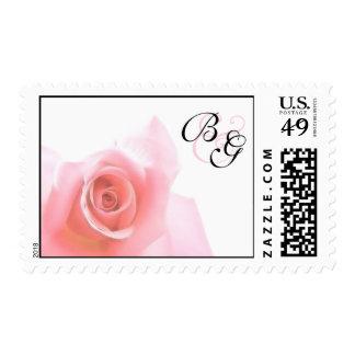 Postage Medium Pink Rose Wedding Set