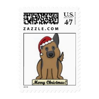 Postage - Merry Christmas GSD