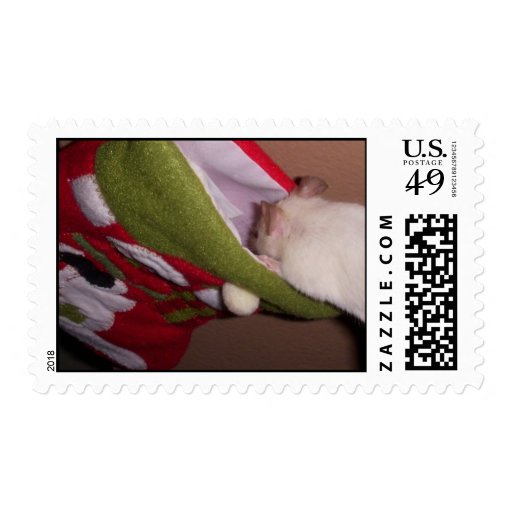 Postage: Mouse Looks in Stocking