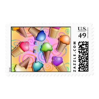 Postage - Pop Art Ice Cream Cones