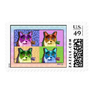 Postage - Pop Art Tom Cat