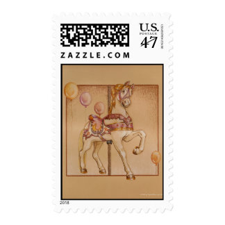 Postage - Purple Pony Carousel