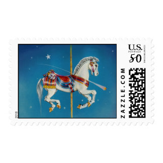 Postage - Red, White & Blue Carousel Horse