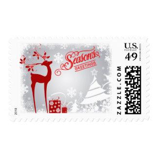 Postage | Season's Greetings | Gray, Red, Deer 2