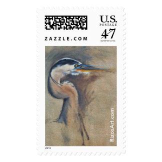 Postage Stamp 2.5 x 1.5 Great-Blue Heron