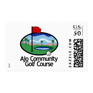 Postage Stamp, Ajo Community Golf Logo