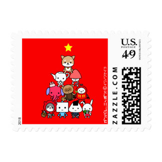 Postage Stamp - All Characters - Holiday Three