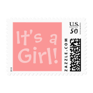 """Postage Stamp Announcement """"It's a, Girl!"""""""