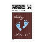 Postage stamp: Baby shower invitation Boy