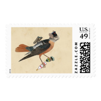 postage stamp | bird with bomb