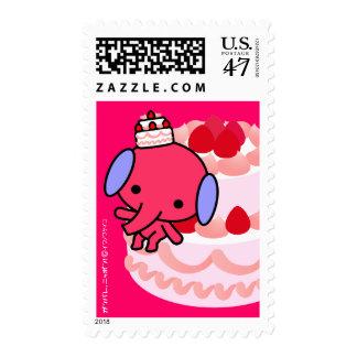Postage Stamp - Cake Elephant - Big Cake
