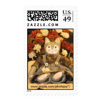 Postage Stamp Cat Doll