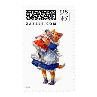 postage stamp cat kisses broken doll better