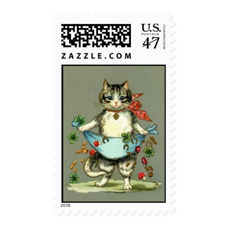 postage stamp cat & lucky charms