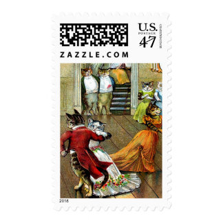 postage stamp cats ballroom dancing