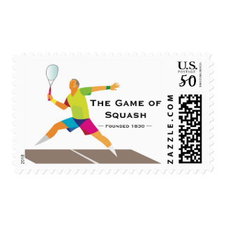Postage stamp celebrating the game of Squash