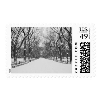 Postage Stamp - Central Park in Winter, New York