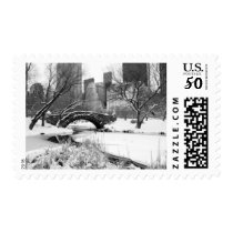 Postage Stamp - Central Park Winter, New York City