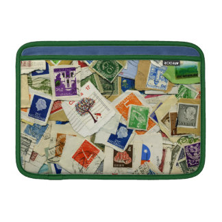Postage Stamp Collage Travel Macbook Sleeve